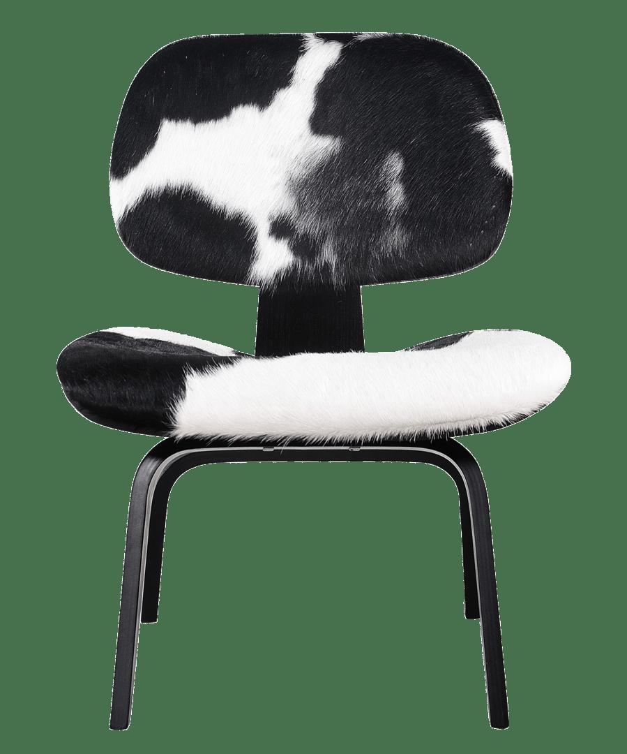 Eames LCW Lounge Chair Pony / Zwart