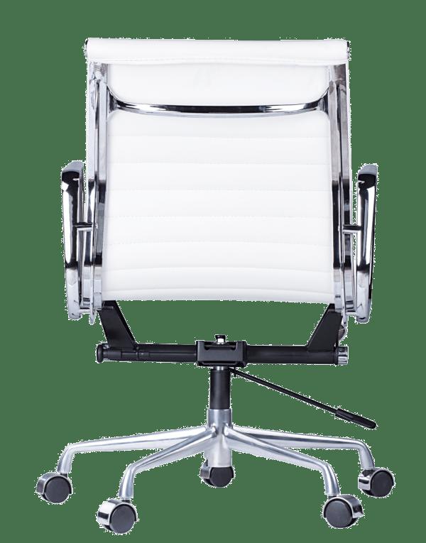 Eames EA 117 Bureaustoel Wit Leer