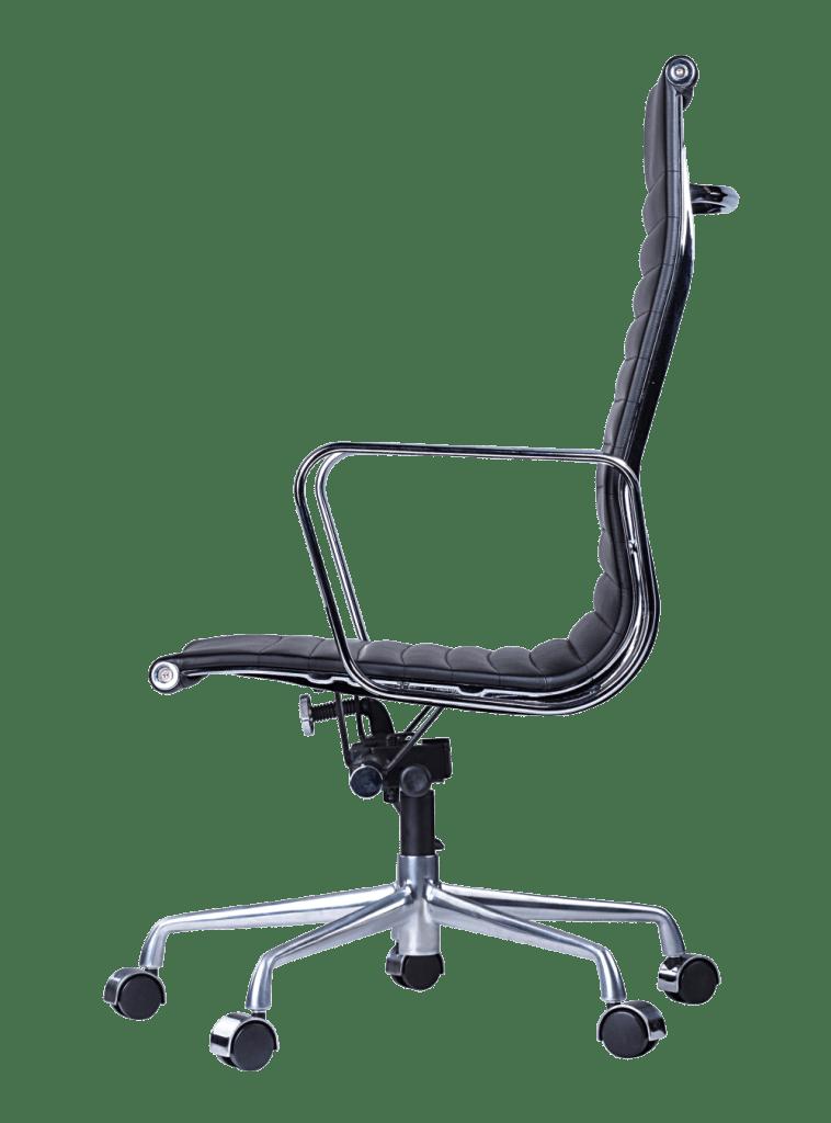Eames EA 119 zwart leer bureaustoel