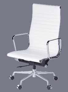 Eames EA 119 Bureaustoel Wit Leer