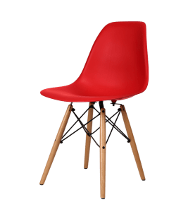 Eames DSW Stoel Rood