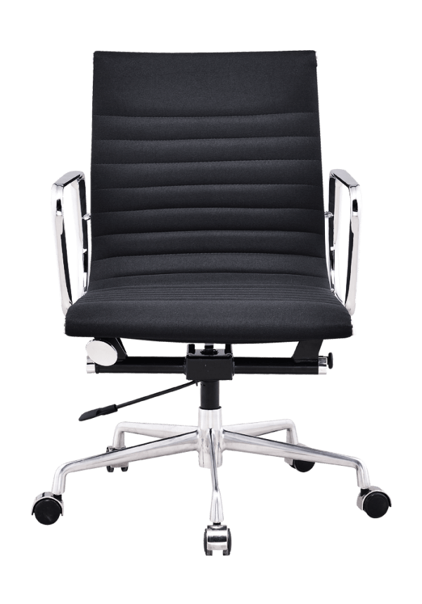 Eames EA 117 Bureaustoel Zwart Linnen