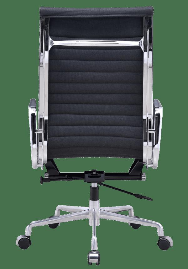 Eames EA 119 Bureaustoel Zwart Linnen