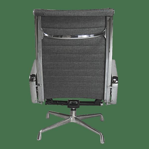 Eames EA 124 Lounge Chair + EA 125 Ottoman Grijs Linnen