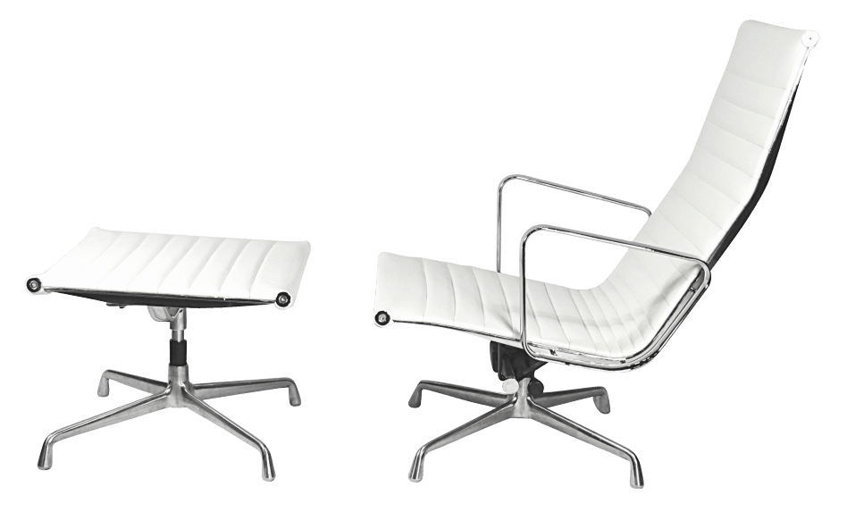 EA124 + EA125 lounge chair wit