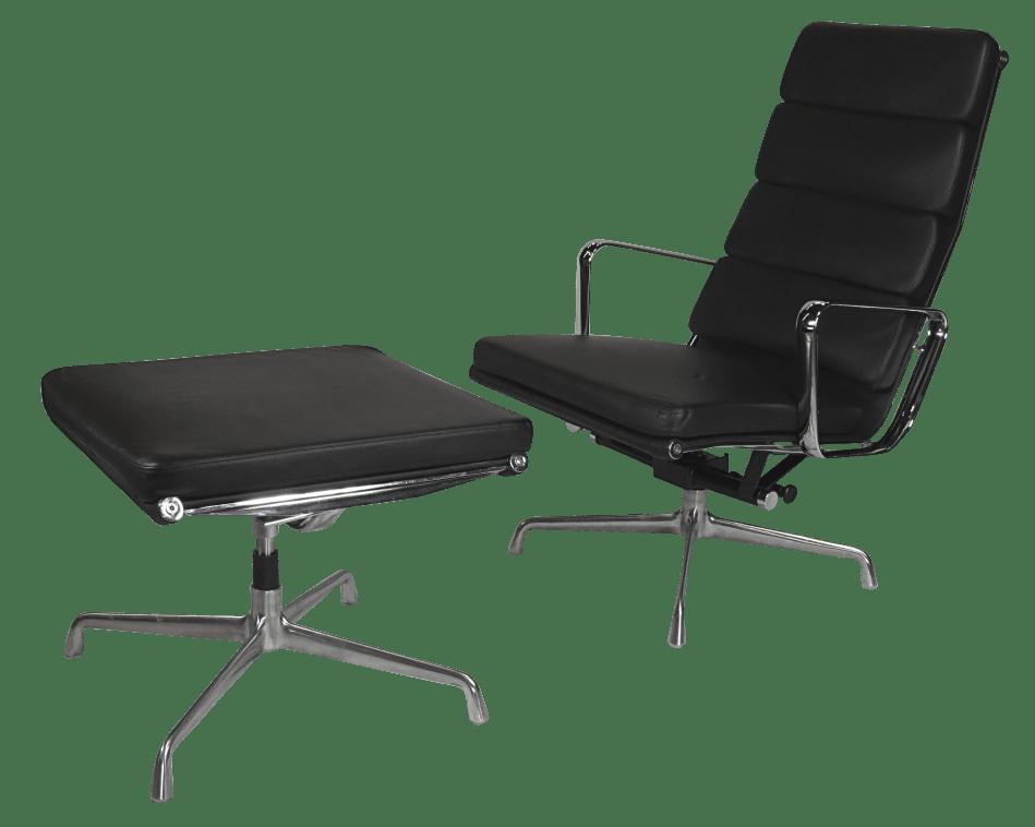Eames EA 222 Lounge Chairs Met Ottoman