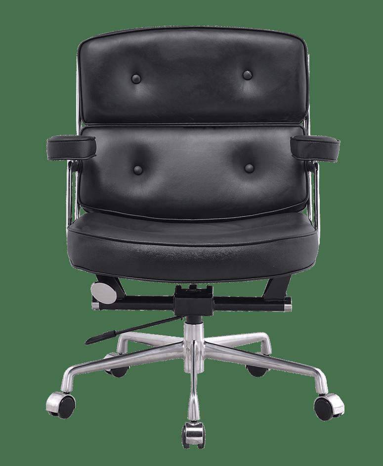 Eames ES 104 Lobby Chair Zwart Leer