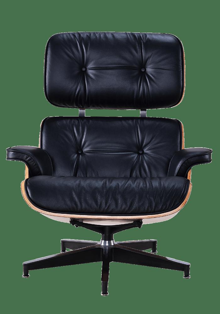 Eames Lounge Chair Xl Zwart Leer Walnoot Schalen Cavel Design