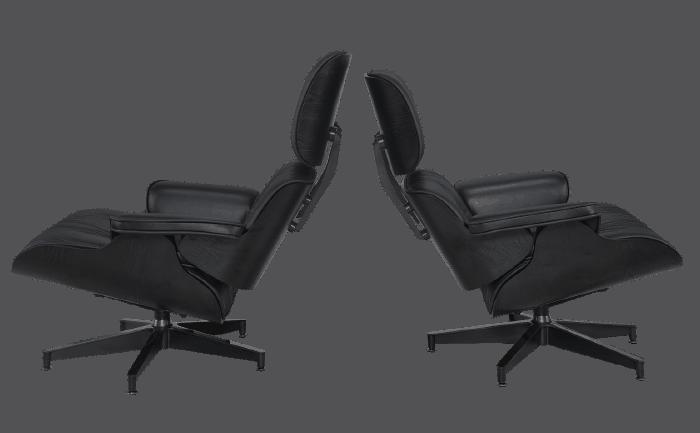 Eames Lounge Chair XL Full Black Edition