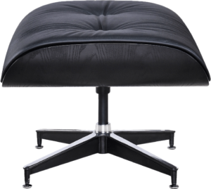 Eames Lounge Chair Ottoman / Hocker Full Black Edition