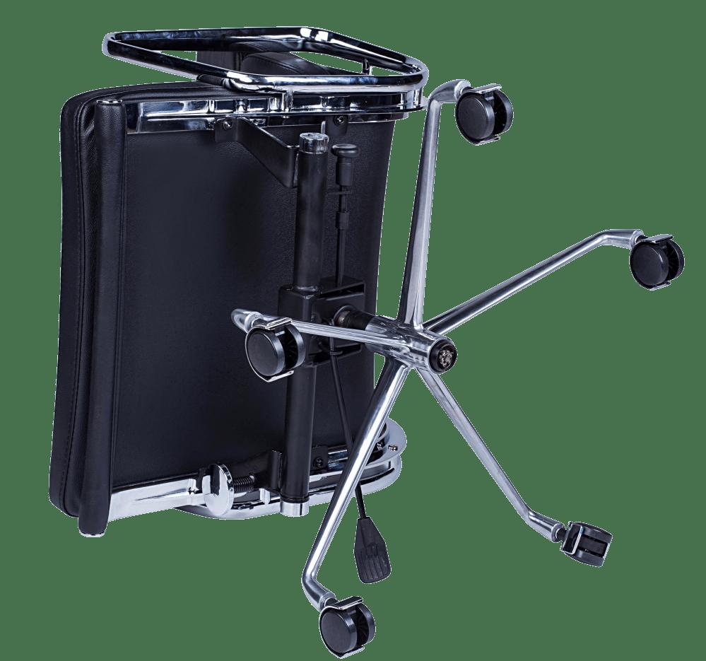 Eames EA 219 Softpad Bureastoel Zwart Leer