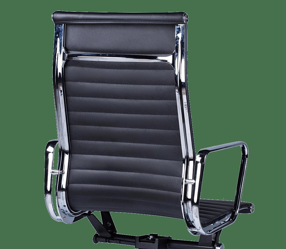 Eames EA 119 Bureaustoel Zwart Leer