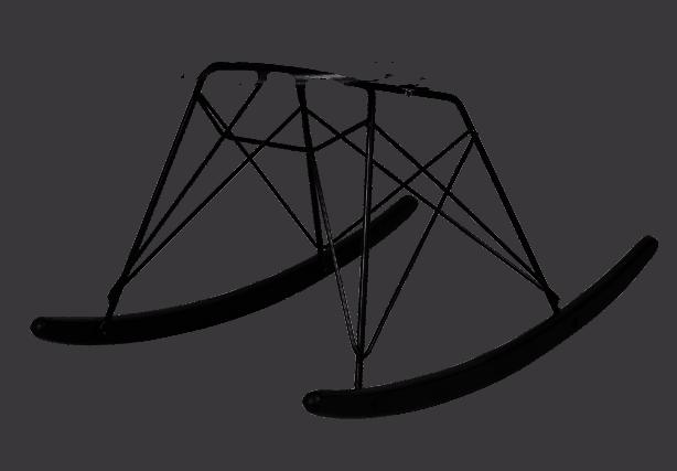 Eames RAR Schommelstoel Zwart