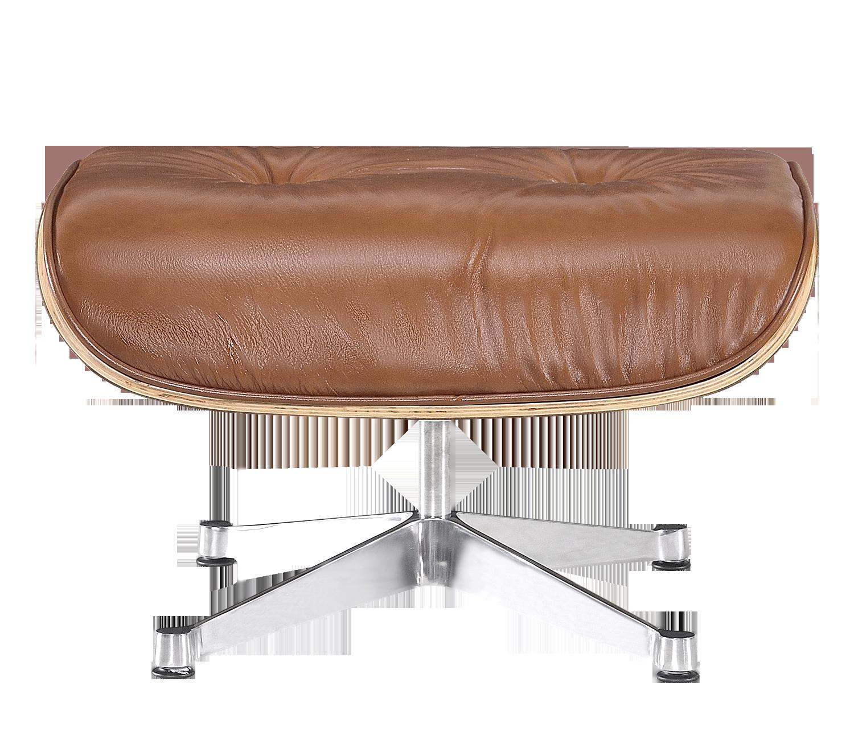 Eames Lounge Chair Ottoman / Hocker Cognac / Bruin Leer, Walnoot Schaal