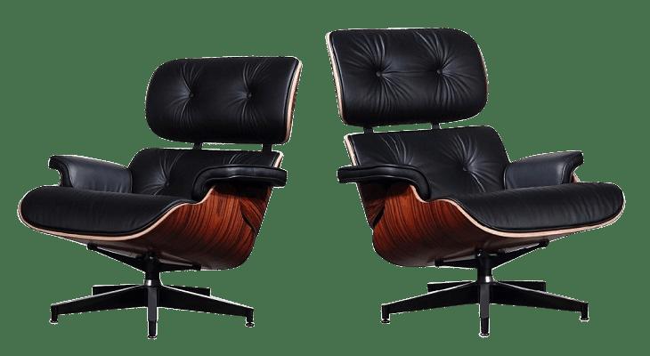 Eames Lounge Chair Xl Zwart Leer Palissander Schalen Cavel Design