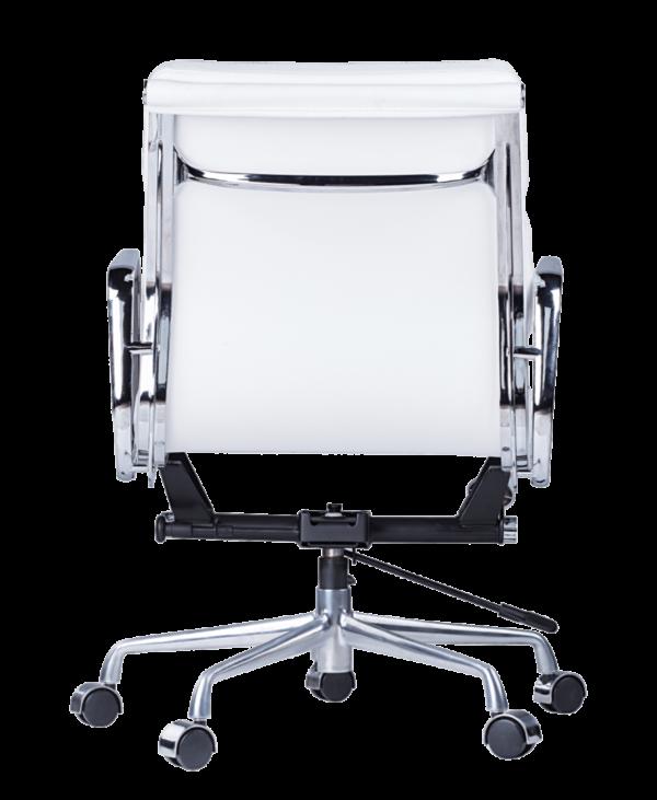 Eames EA 217 Softpad Bureaustoel Wit Leer