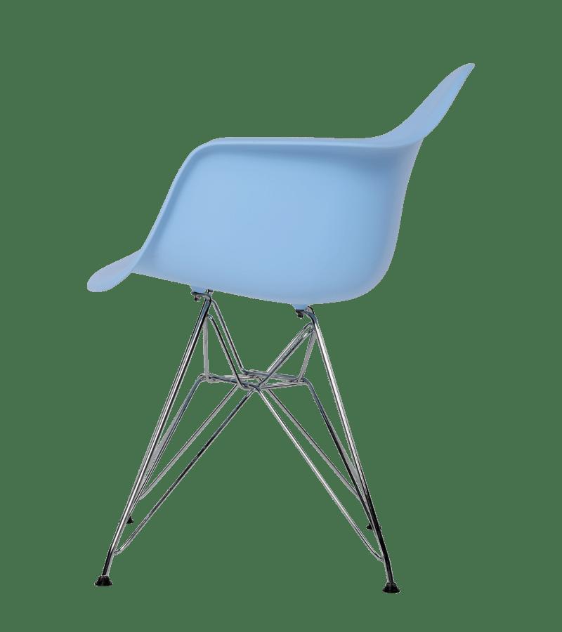 Eames replica DAR stoel blauw