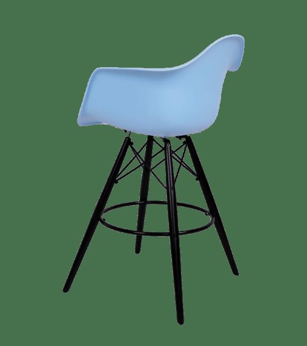 Eames DAW Barkruk Blauw