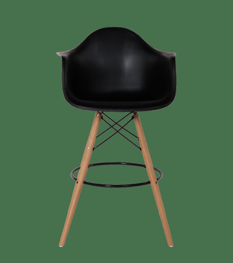 Eames DAW Barkruk Zwart