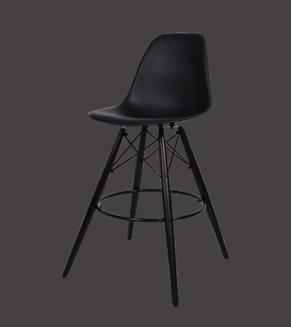 Eames DSW Barkruk Zwart