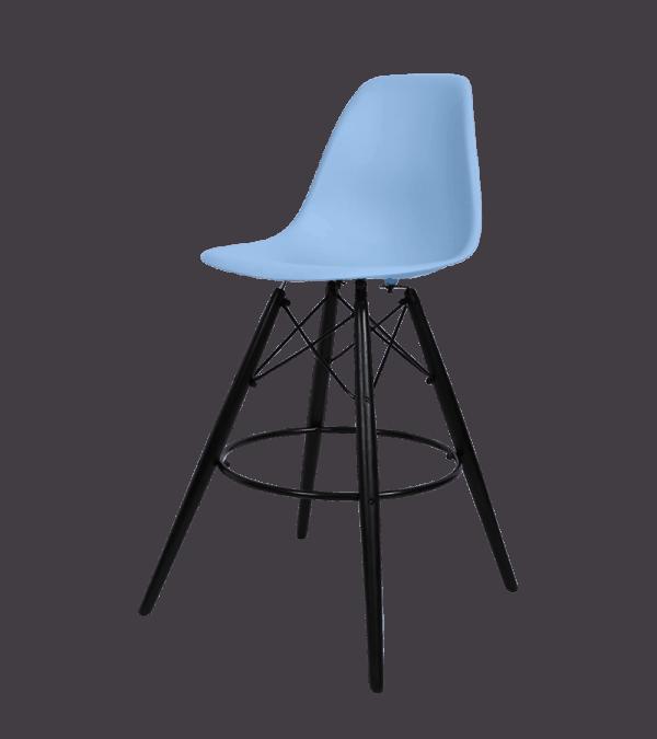 Eames DSW Barkruk Blauw