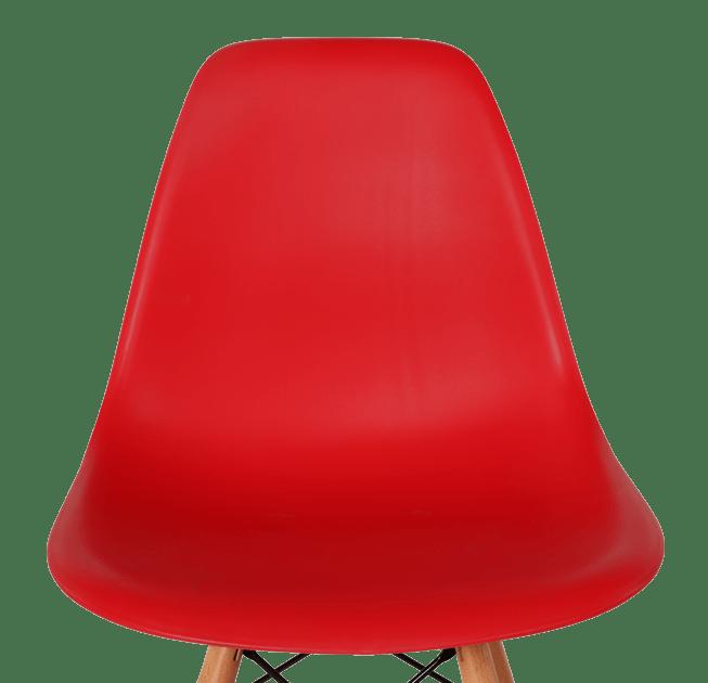 Eames DSW Barkruk Rood