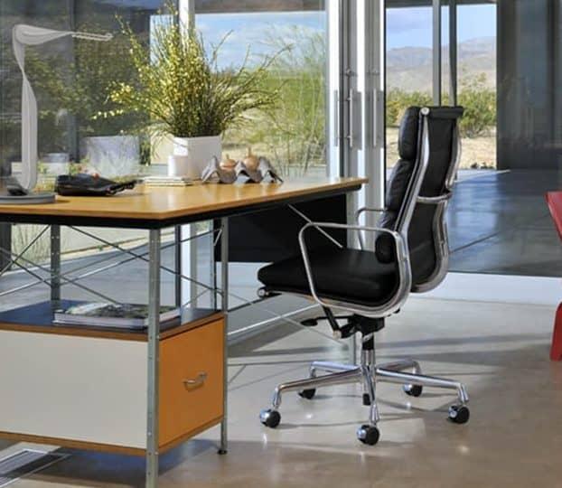 Eames EA 219 Zwart Bureaustoel