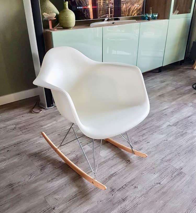 Eames RAR Schommelstoel White Cavel Design