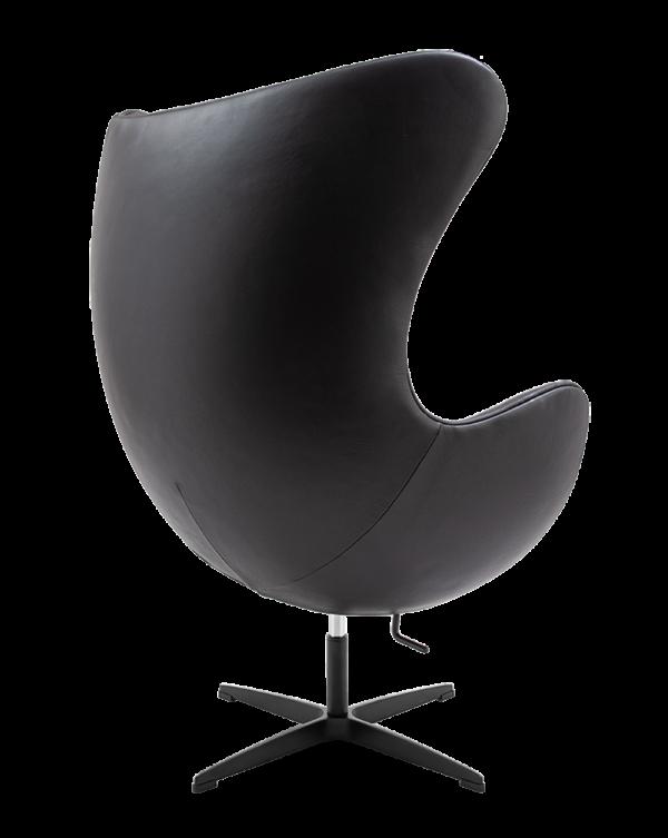 Egg Chair Zwart Leer