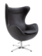 Egg Chair Wit Leer