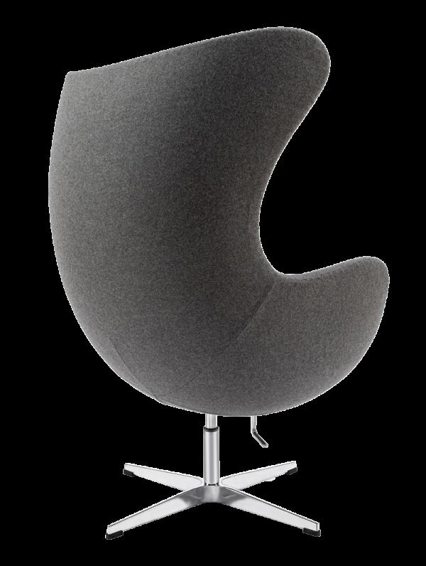 Egg Chair Donker Grijs Kasjmier