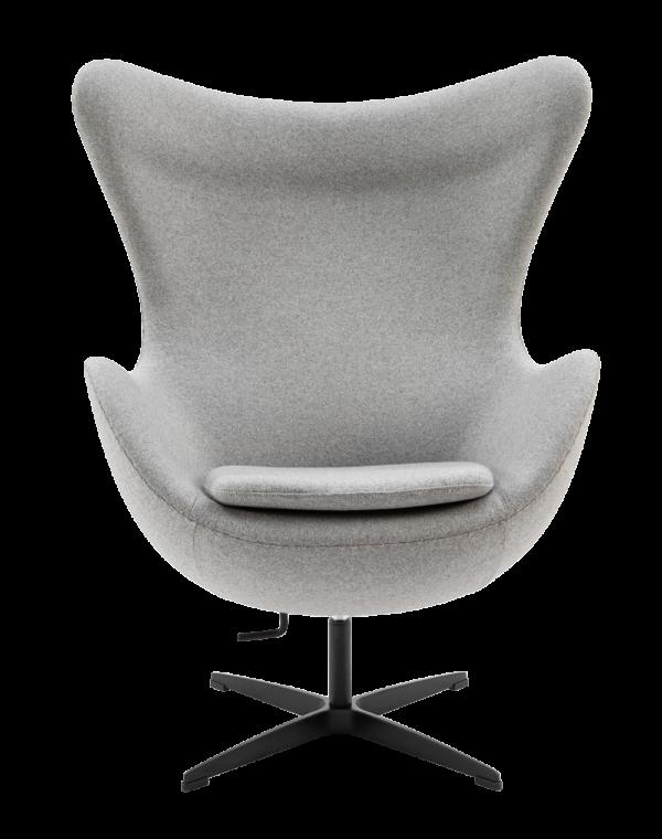 Egg Chair Licht Grijs Kasjmier