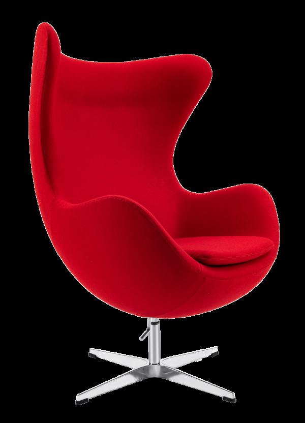 Egg Chair Rood Kasjmier