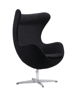 Egg Chair Zwart Kasjmier