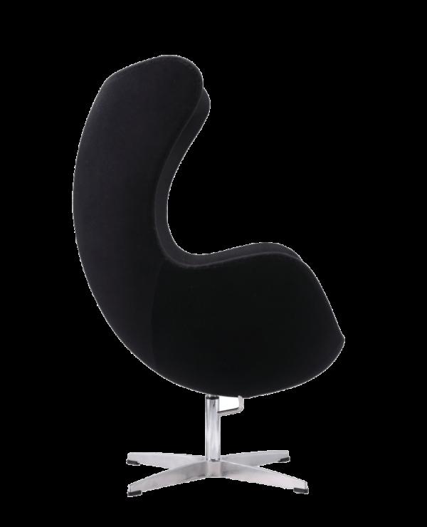 Egg Chair Zwart Kasjmier