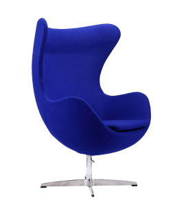 Egg Chair Blauw Kasjmier