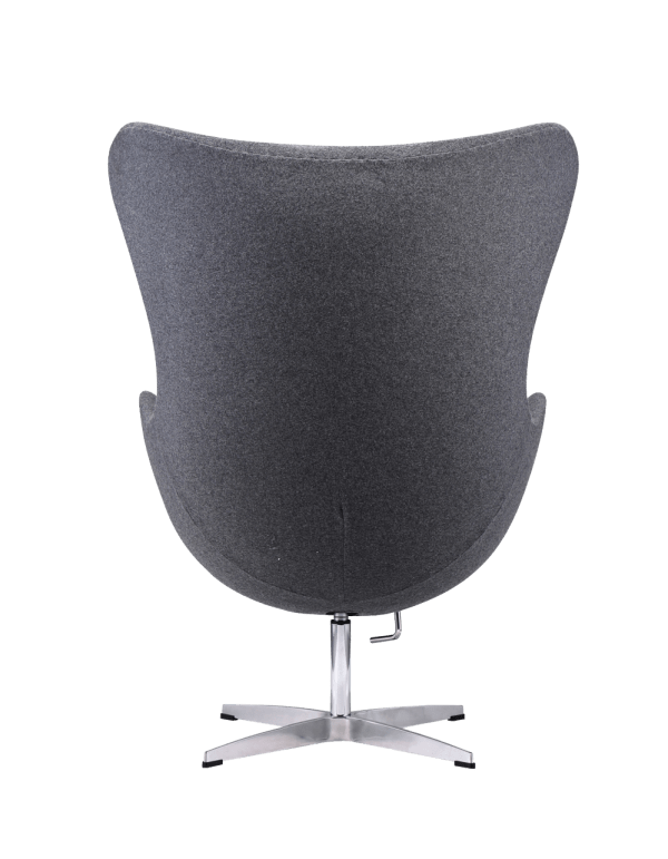 Egg Chair Dark Grey Kasjmier
