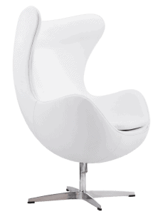 Egg Chair Wit Leer