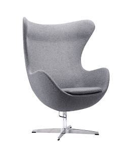 Egg Chair Licht Grijs Kasjmier