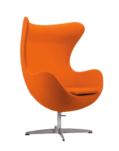 Egg Chair Oranje Kasjmier