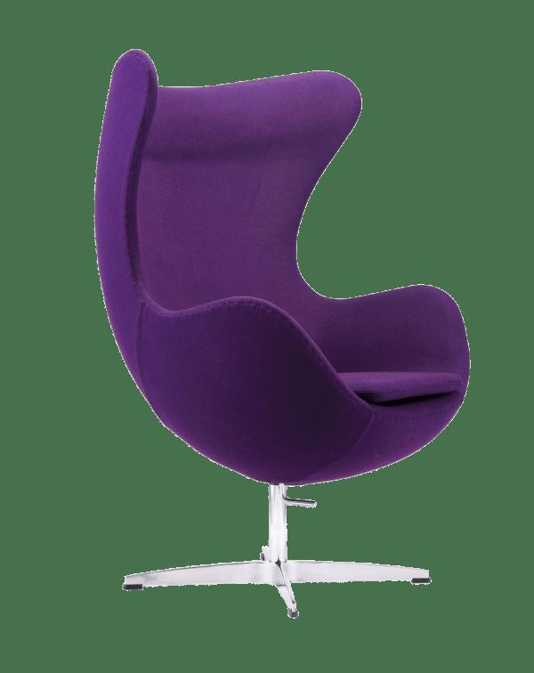 Jacobsen Egg chair replica paars