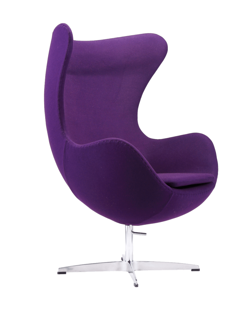 Jacobsen Egg chair replica paars