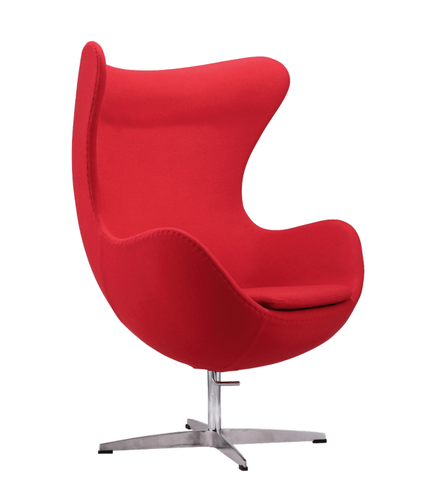 Egg Chair Rood Kasjmier