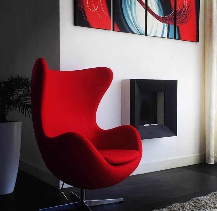 Egg Chair Rood Cavel Design