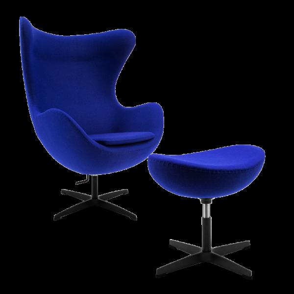 Egg Chair Blauw Kasjmier