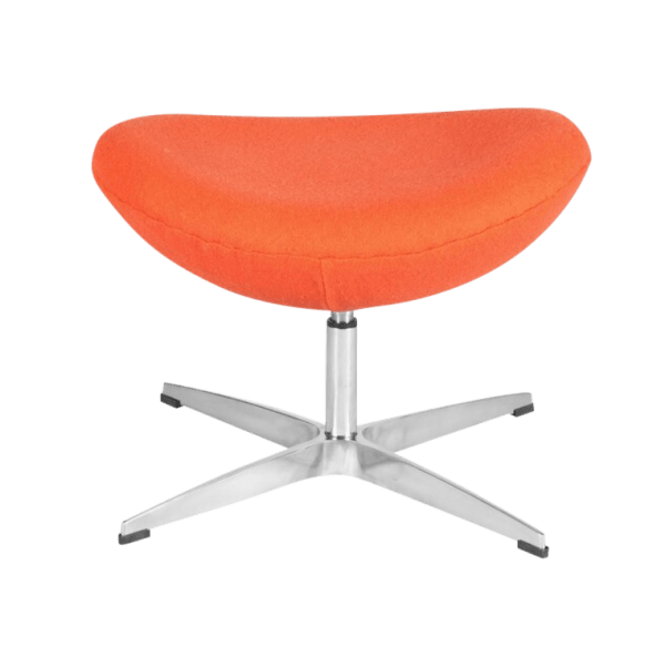 Egg Chair Ottoman / Hocker Oranje Kasjmier
