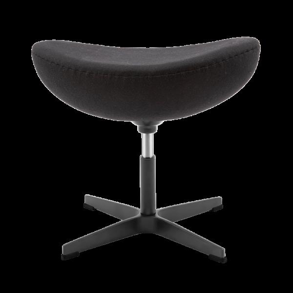 Egg Chair Ottoman / Hocker Zwart Kasjmier