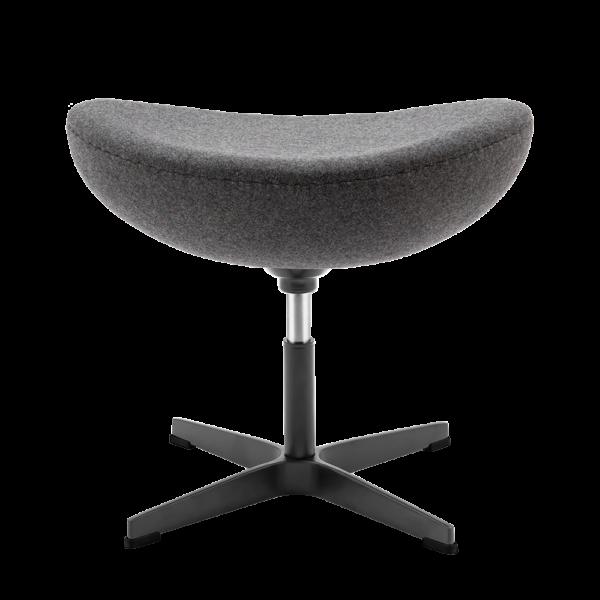 Egg Chair Ottoman / Hocker Donker Grijs Kasjmier
