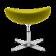 Egg Chair Ottoman / Hocker Licht Grijs Kasjmier