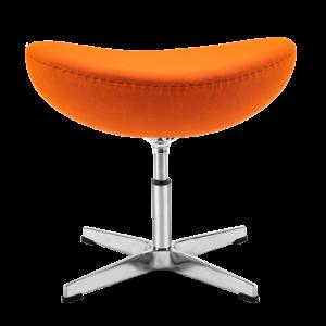 Egg Chair Ottoman / Hocker Oranje Kasjmier